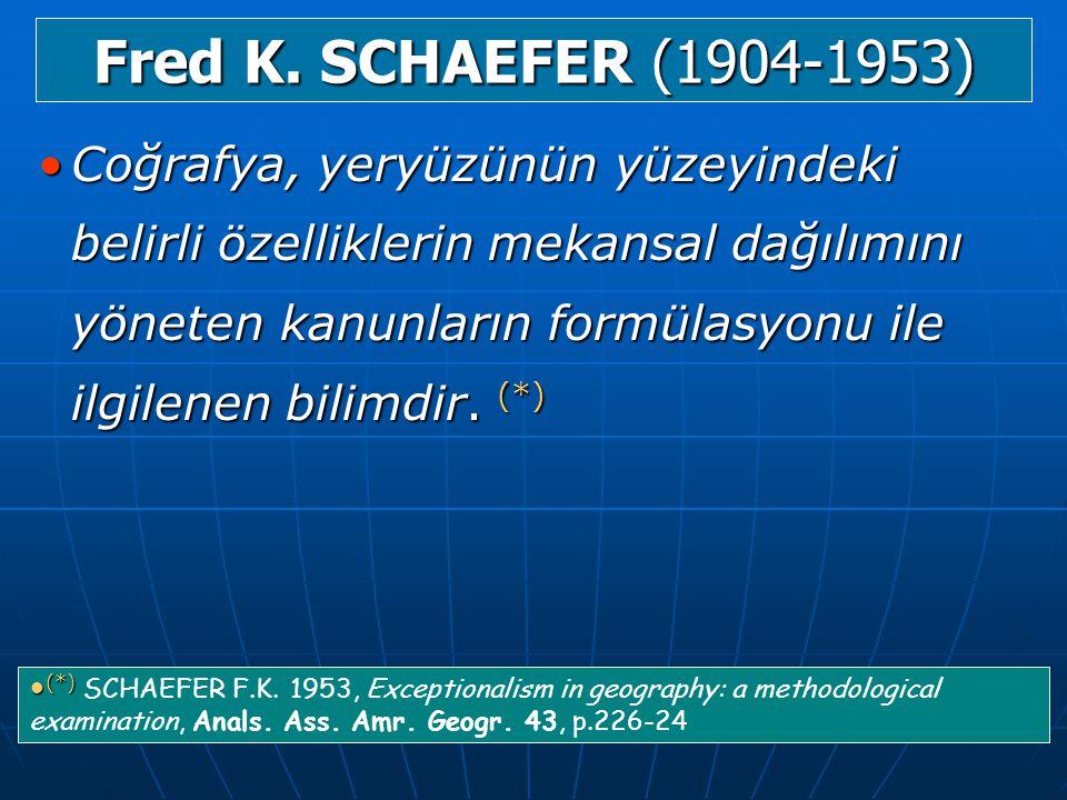 Fred K. SCHAEFER (1904-1953)