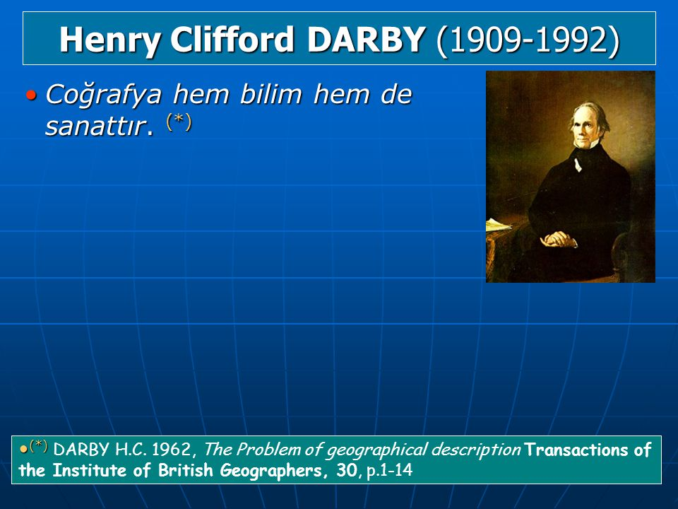 Henry Clifford DARBY (1909-1992)