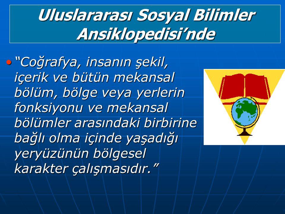 Uluslararası Sosyal Bilimler Ansiklopedisi'nde