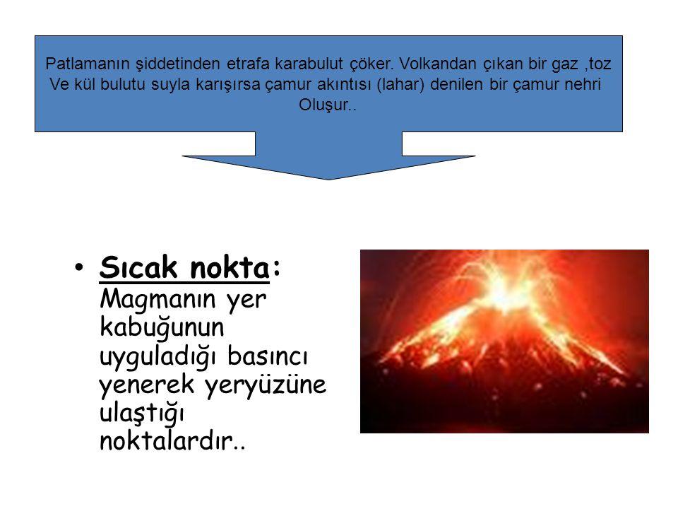 Patlamanın şiddetinden etrafa karabulut çöker