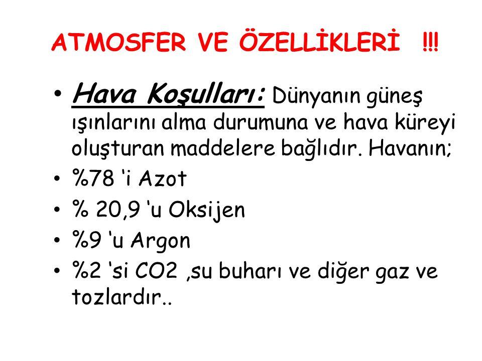 ATMOSFER VE ÖZELLİKLERİ !!!