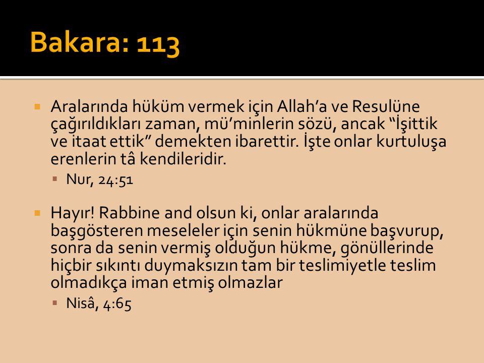 Bakara: 113