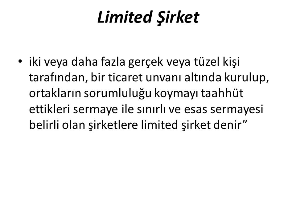 Limited Şirket