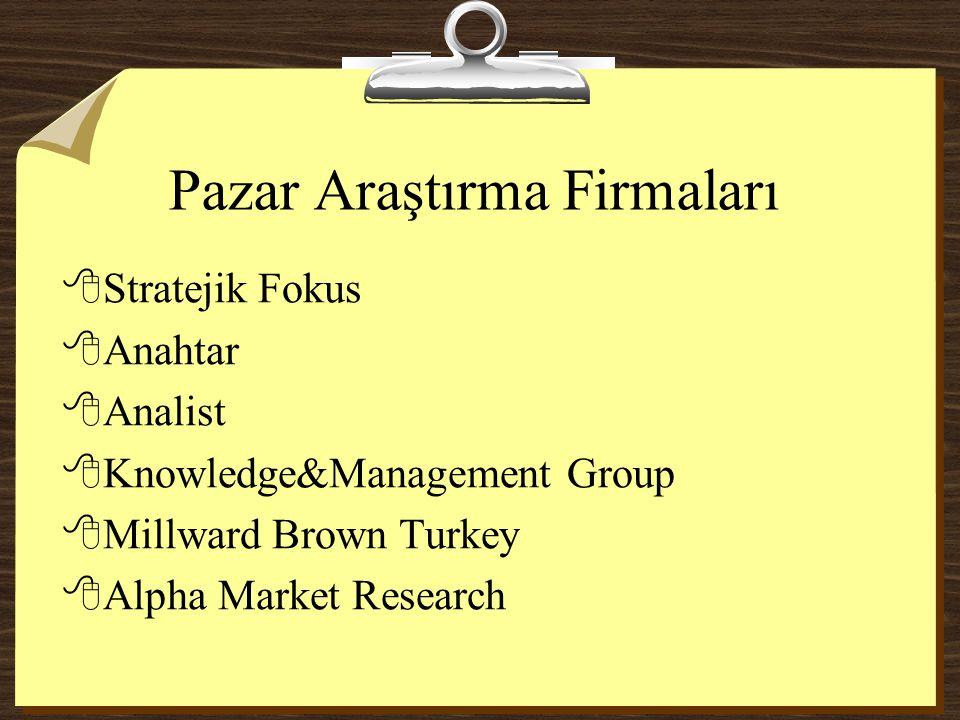 Pazar Araştırma Firmaları