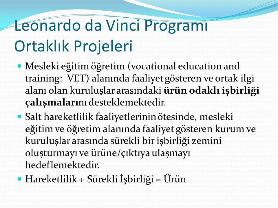Leonardo da Vinci Programı Ortaklık Projeleri