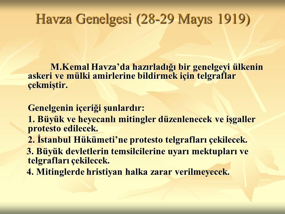 Havza Genelgesi (28-29 Mayıs 1919)