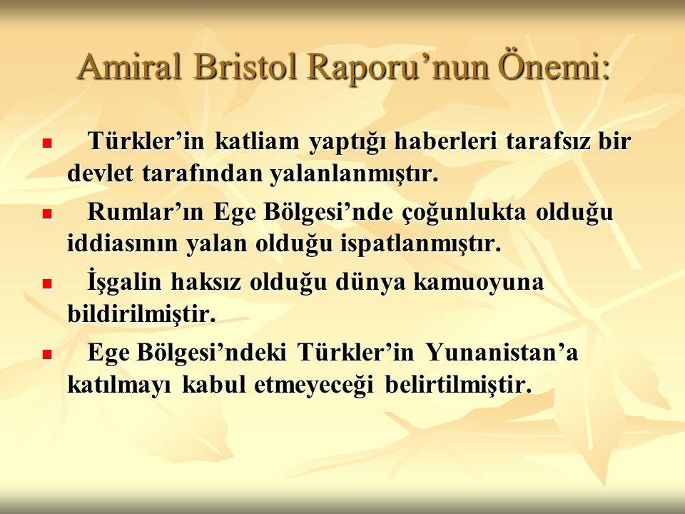 Amiral Bristol Raporu'nun Önemi:
