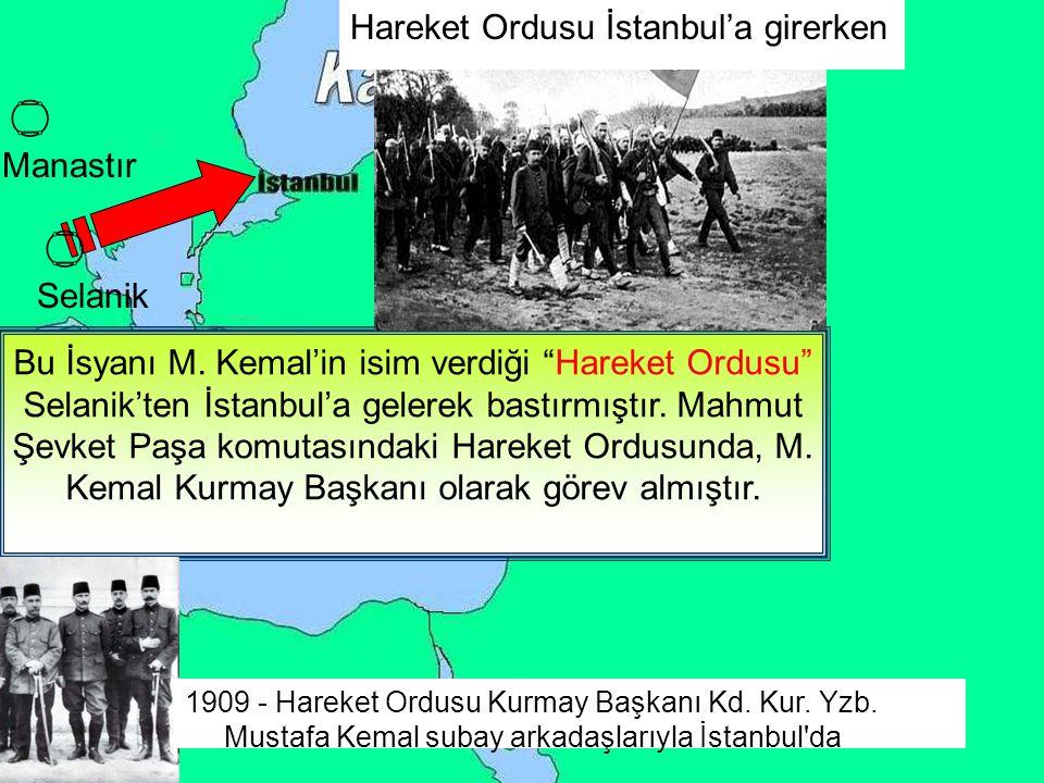 Hareket Ordusu İstanbul'a girerken