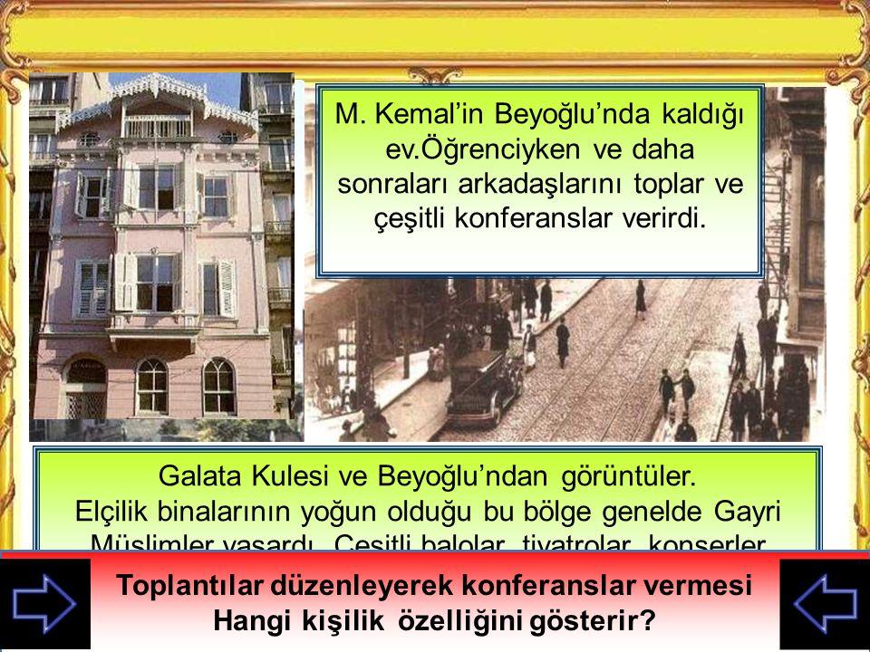 Galata Kulesi ve Beyoğlu'ndan görüntüler.