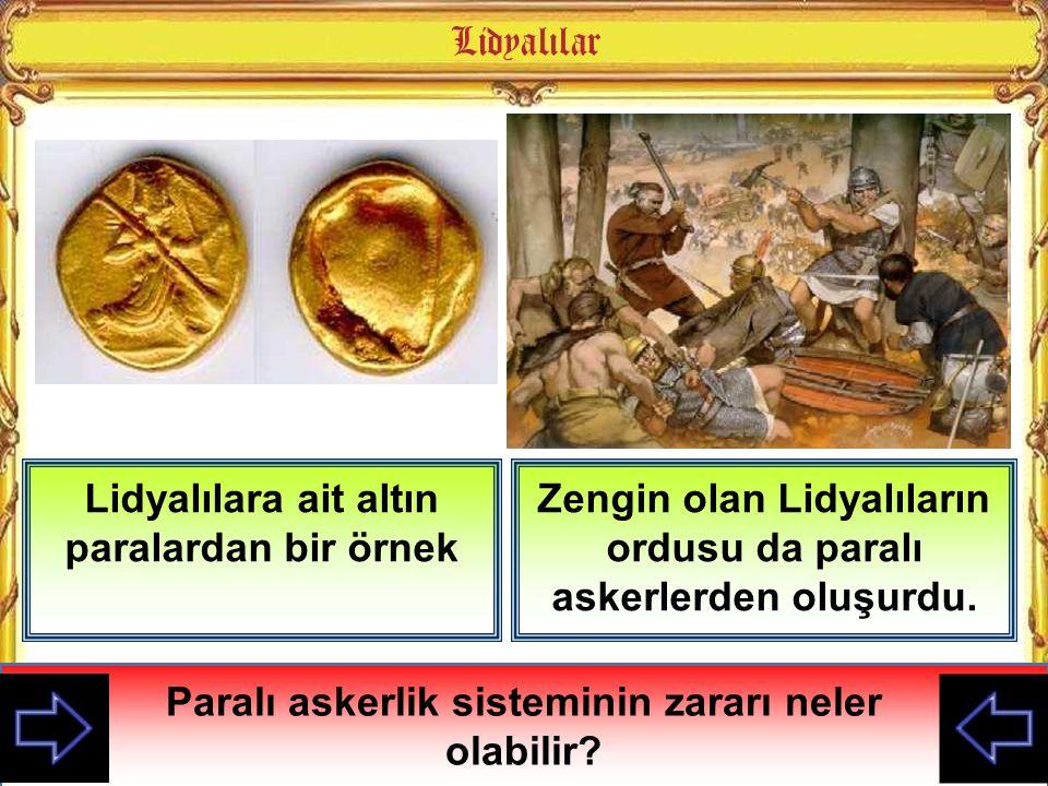 Lidyalılara ait altın paralardan bir örnek