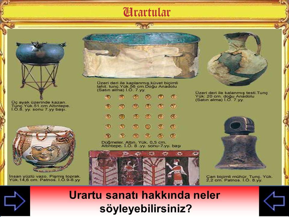 Urartu sanatı hakkında neler