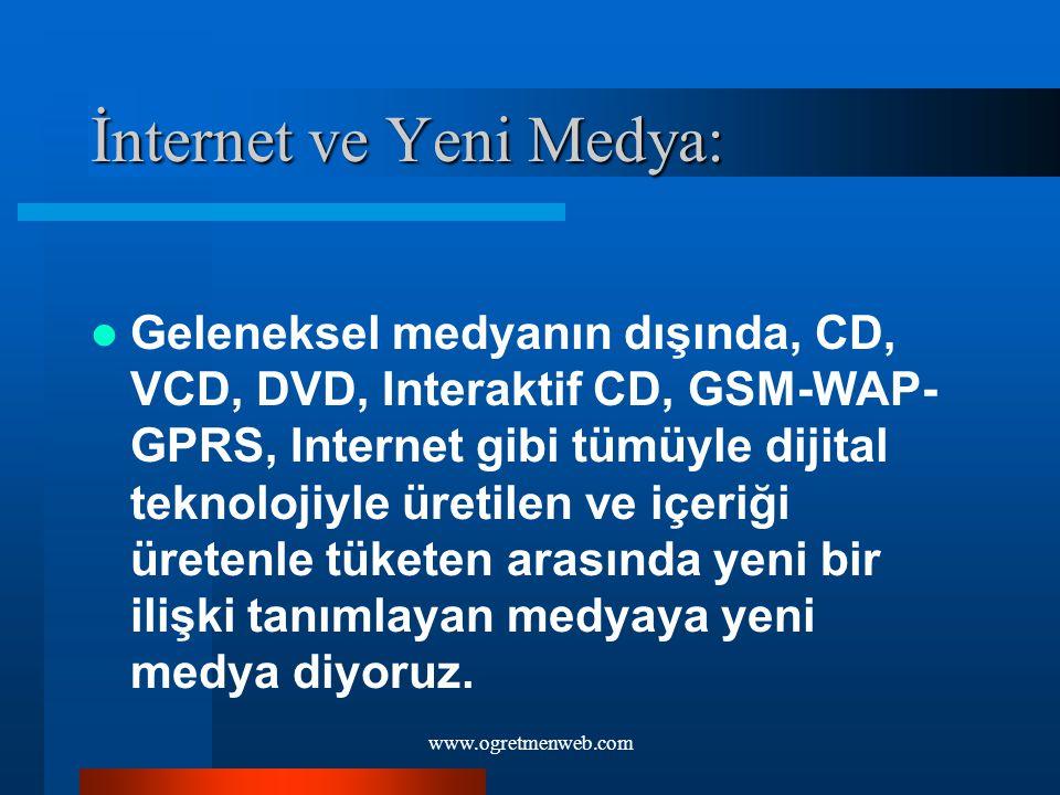 İnternet ve Yeni Medya:
