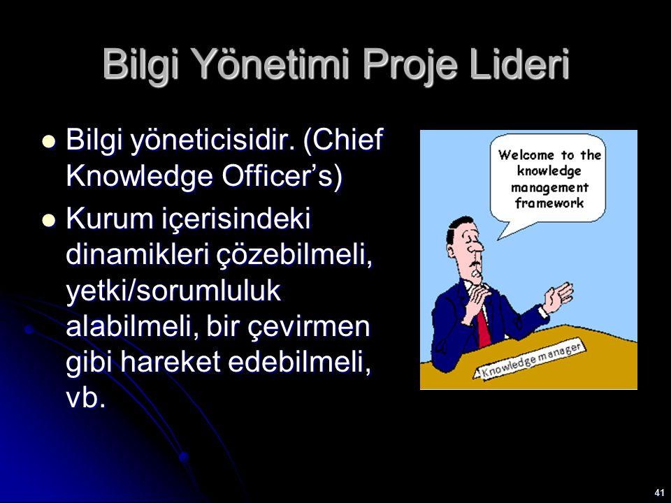 Bilgi Yönetimi Proje Lideri