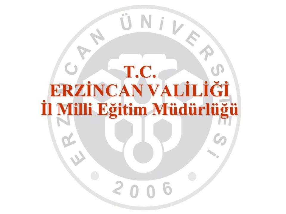 T.C. ERZİNCAN VALİLİĞİ İl Milli Eğitim Müdürlüğü