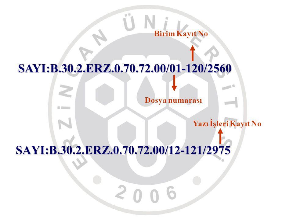 Birim Kayıt No SAYI:B.30.2.ERZ.0.70.72.00/01-120/2560.
