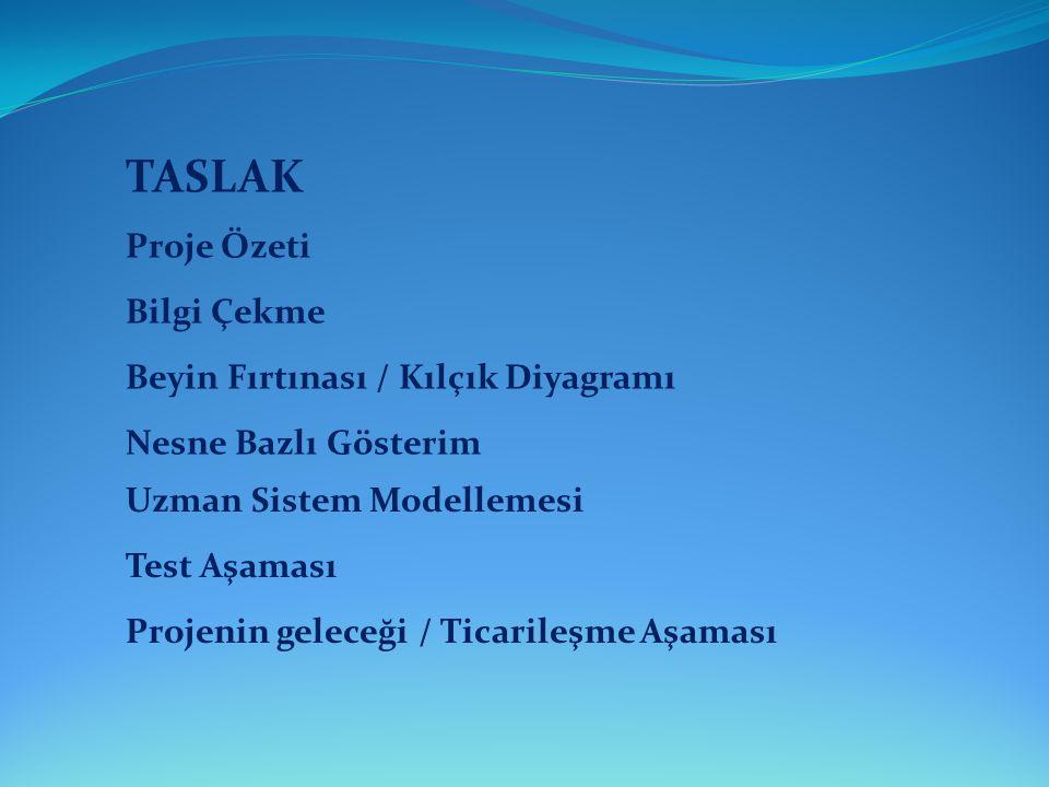 TASLAK Proje Özeti Bilgi Çekme Beyin Fırtınası / Kılçık Diyagramı