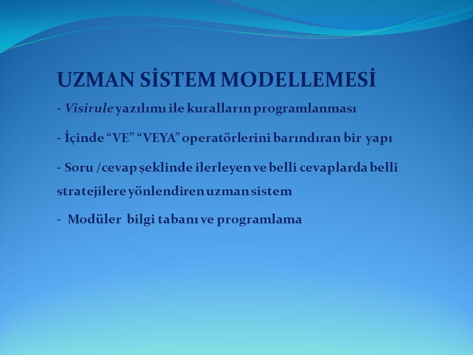 UZMAN SİSTEM MODELLEMESİ