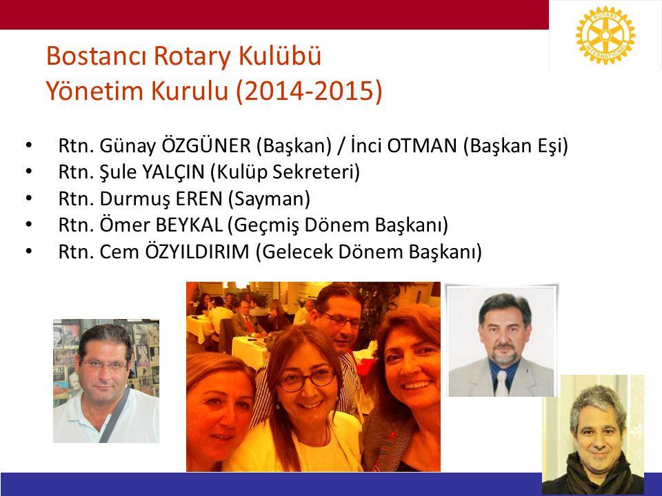 Bostancı Rotary Kulübü Yönetim Kurulu (2014-2015)