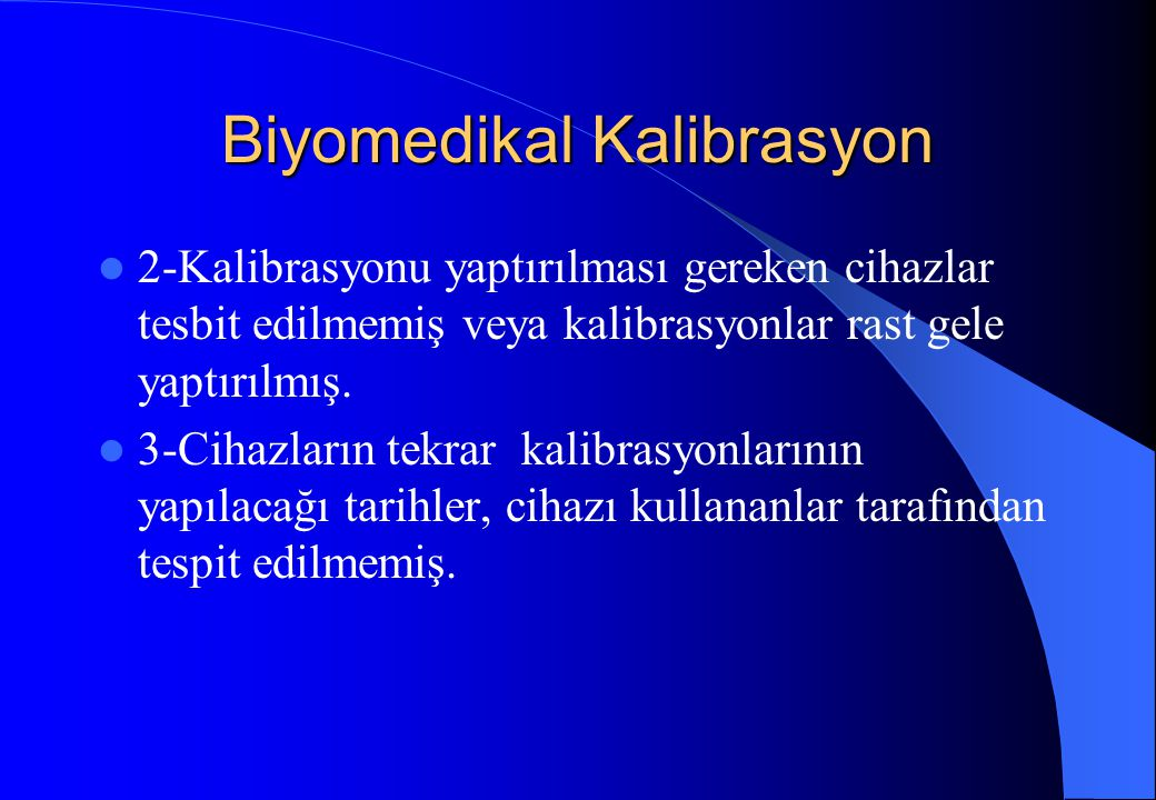 Biyomedikal Kalibrasyon