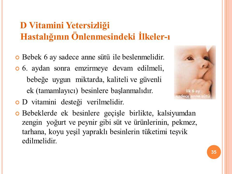 D Vitamini Yetersizliği Hastalığının Önlenmesindeki İlkeler-ı