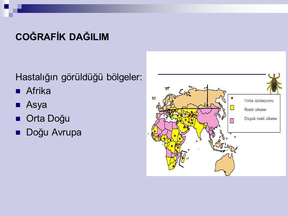 Hastalığın görüldüğü bölgeler: Afrika Asya Orta Doğu Doğu Avrupa