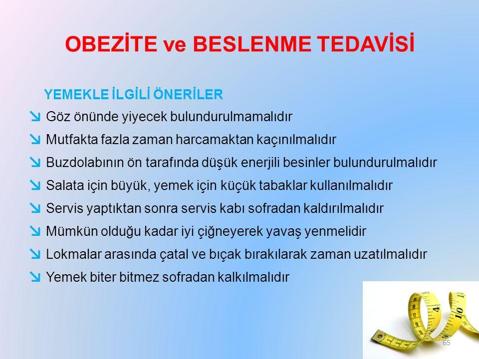OBEZİTE ve BESLENME TEDAVİSİ