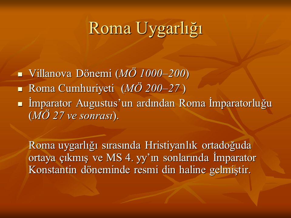 Roma Uygarlığı Villanova Dönemi (MÖ 1000–200)
