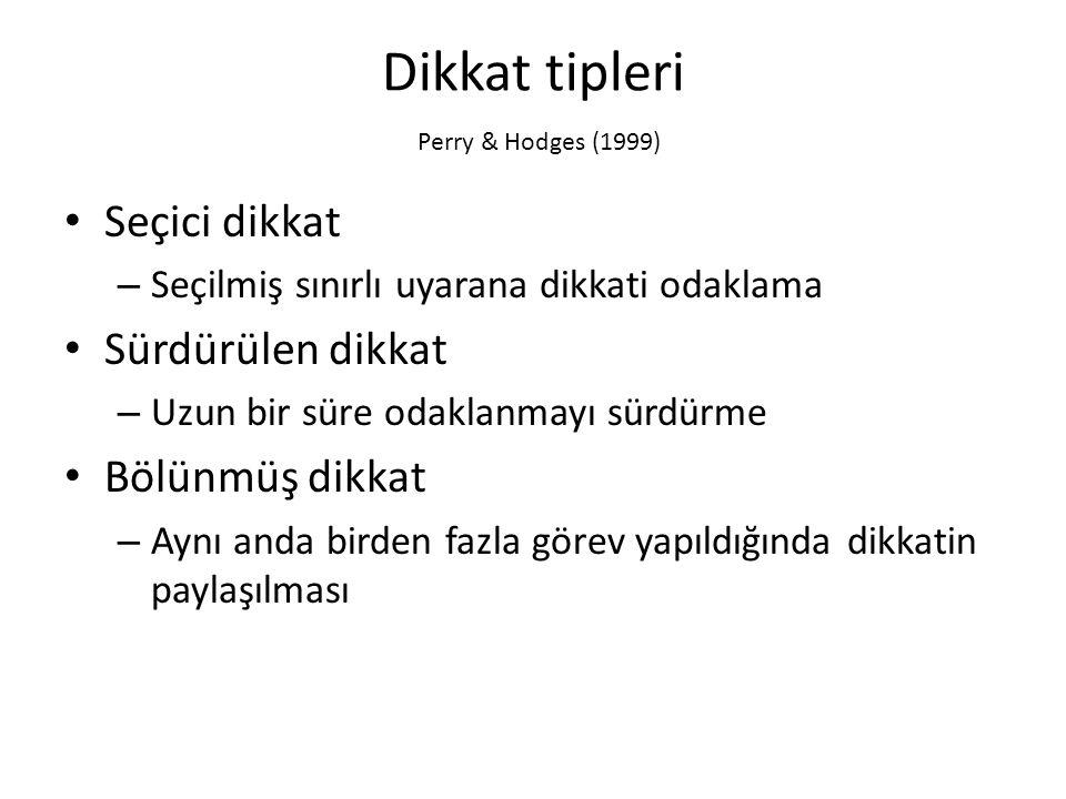 Dikkat tipleri Perry & Hodges (1999)