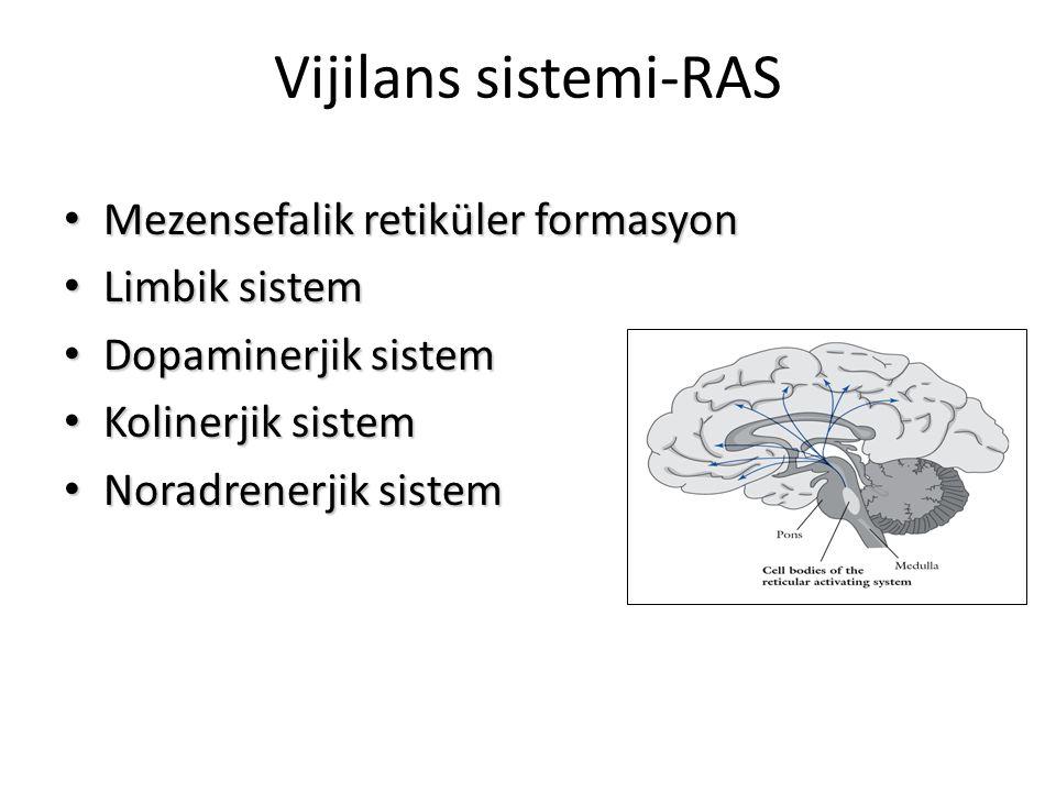 Vijilans sistemi-RAS Mezensefalik retiküler formasyon Limbik sistem