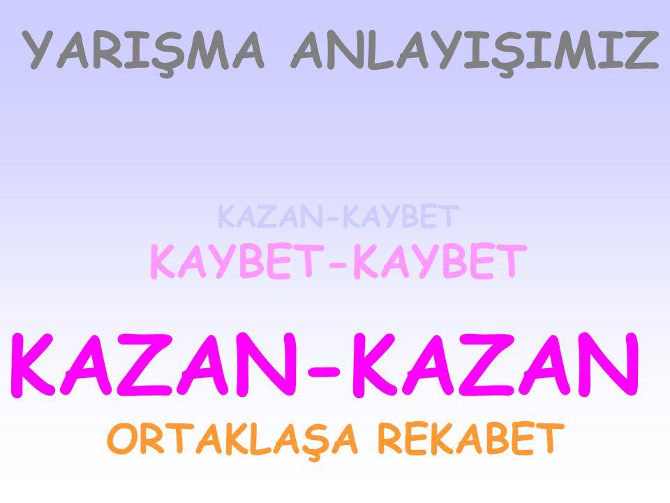 KAZAN-KAZAN YARIŞMA ANLAYIŞIMIZ KAYBET-KAYBET ORTAKLAŞA REKABET