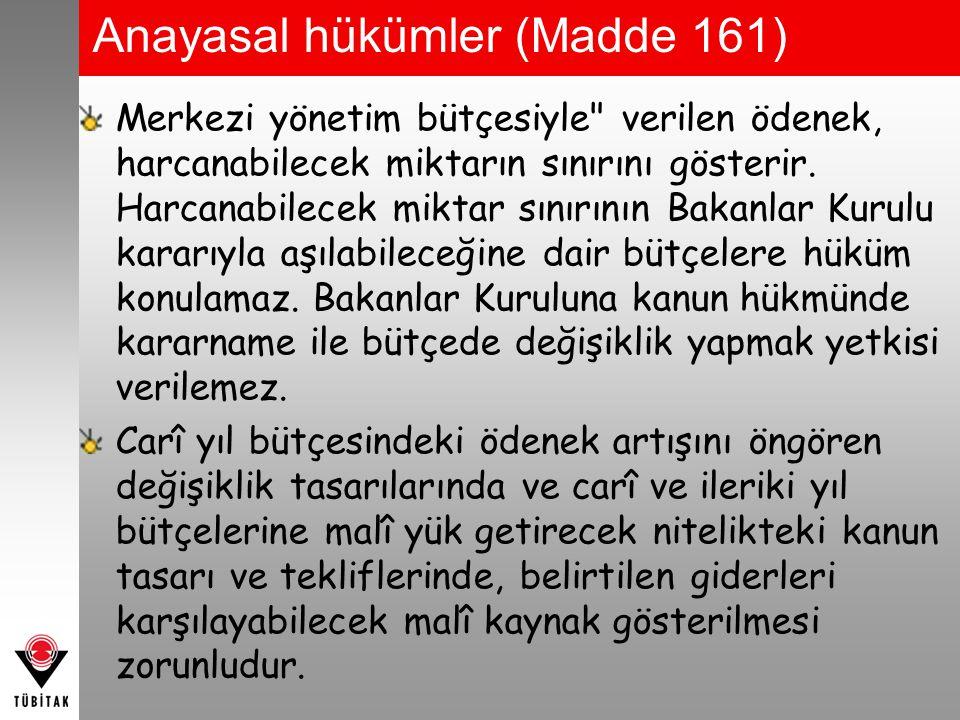 Anayasal hükümler (Madde 161)