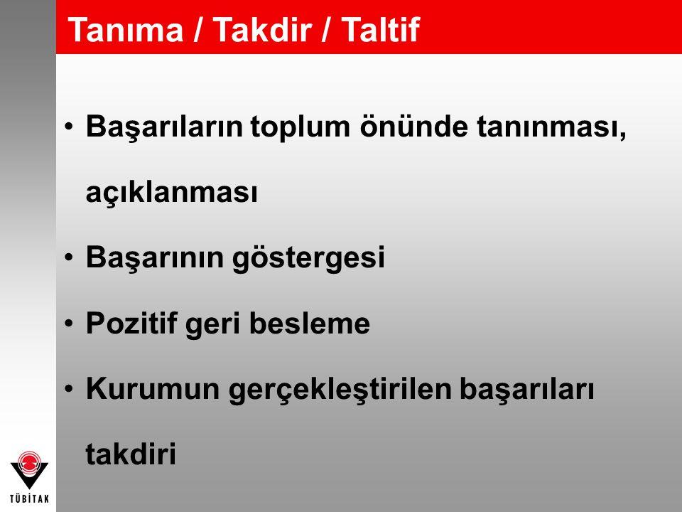 Tanıma / Takdir / Taltif