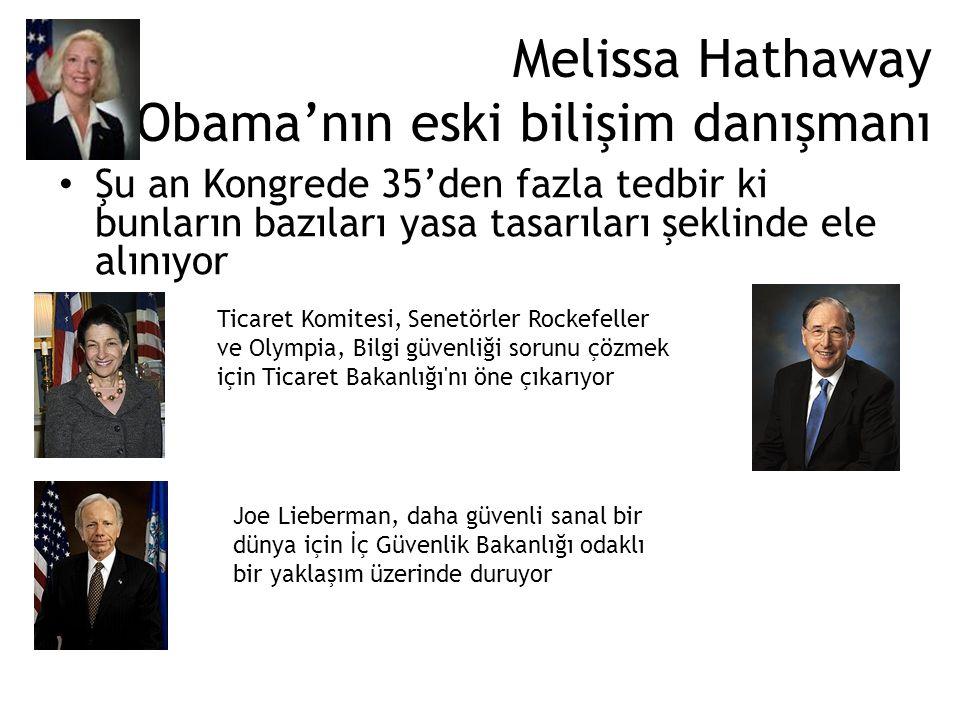 Melissa Hathaway Obama'nın eski bilişim danışmanı