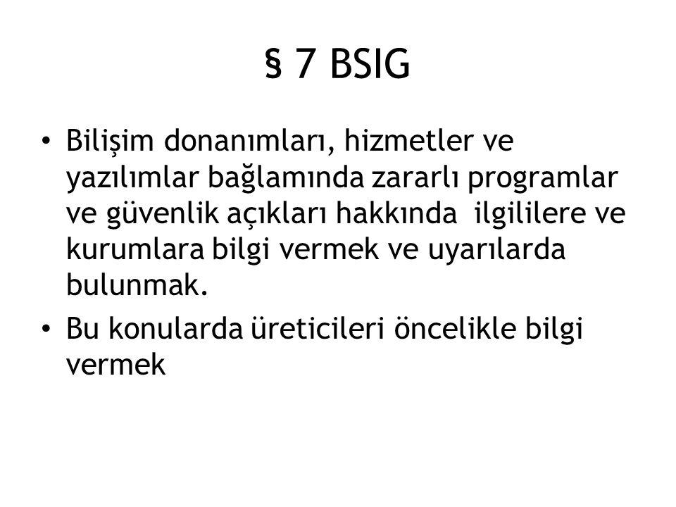 § 7 BSIG