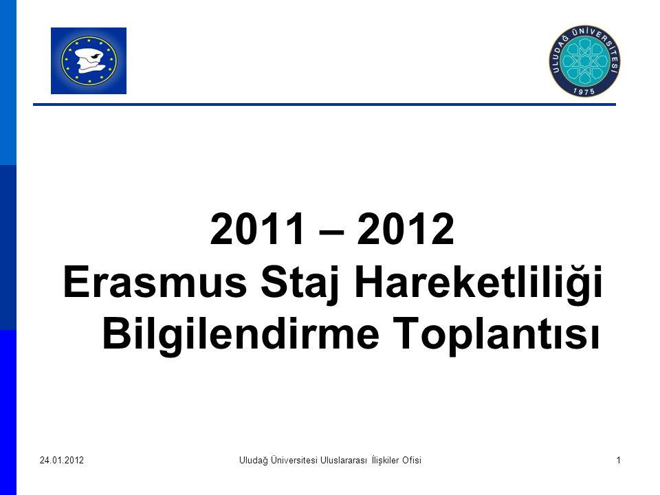 2011 – 2012 Erasmus Staj Hareketliliği Bilgilendirme Toplantısı