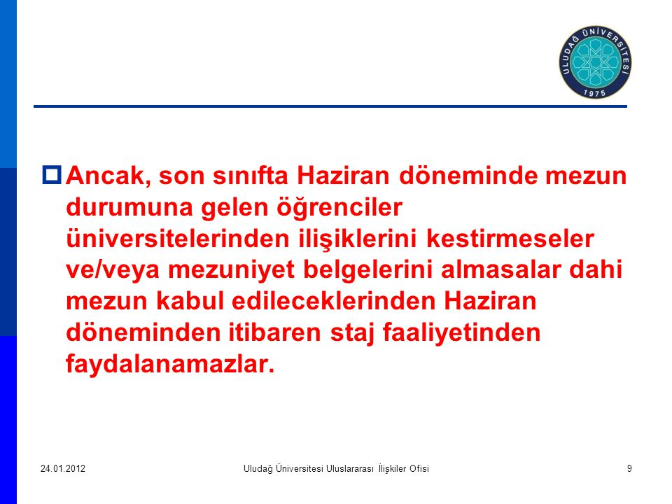 Uludağ Üniversitesi Uluslararası İlişkiler Ofisi