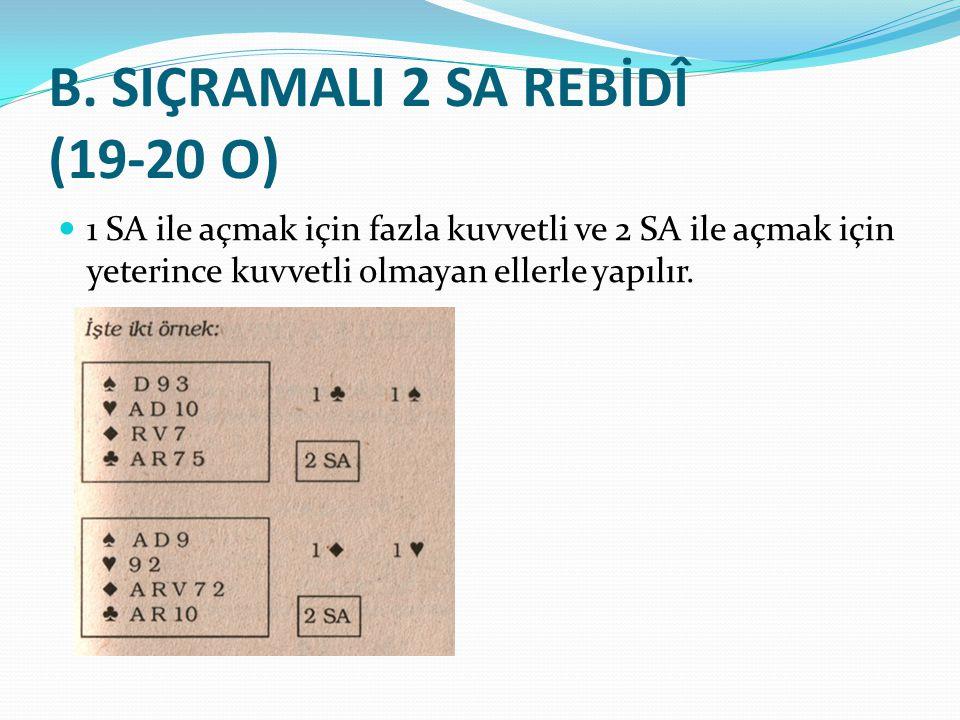 B. SIÇRAMALI 2 SA REBİDÎ (19-20 O)