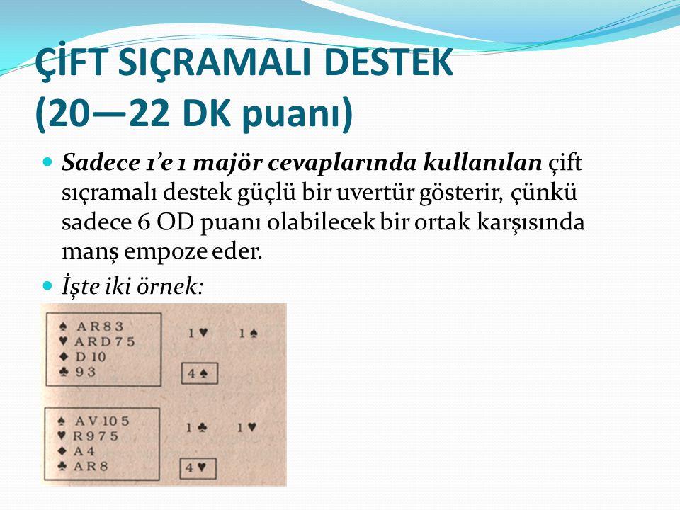 ÇİFT SIÇRAMALI DESTEK (20—22 DK puanı)
