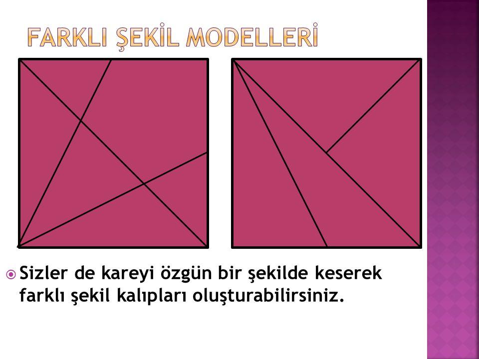 farklI şekİl modellerİ