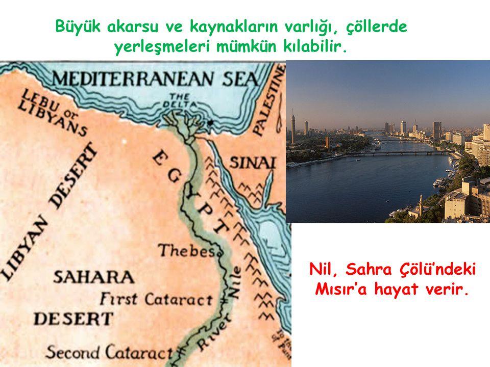 Nil, Sahra Çölü'ndeki Mısır'a hayat verir.