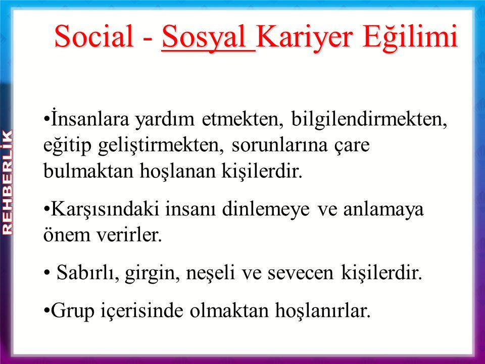 Social - Sosyal Kariyer Eğilimi