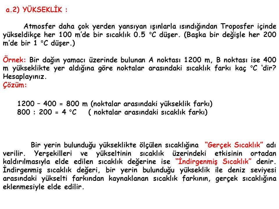 a.2) YÜKSEKLİK :