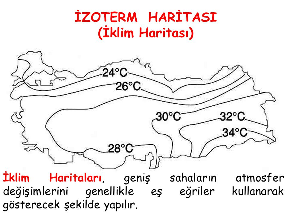 İZOTERM HARİTASI (İklim Haritası)