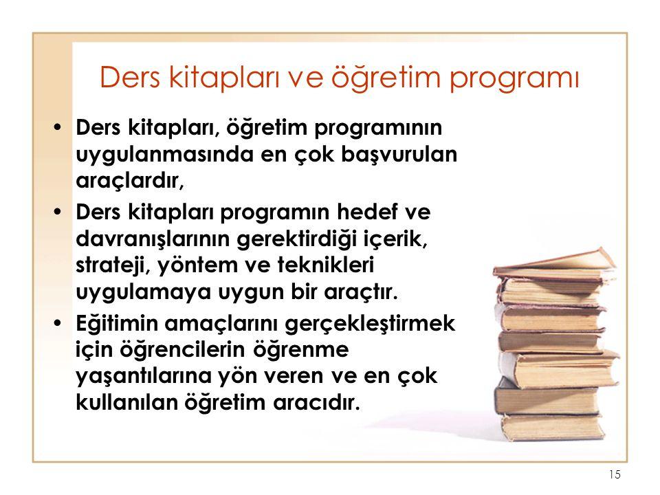 Ders kitapları ve öğretim programı