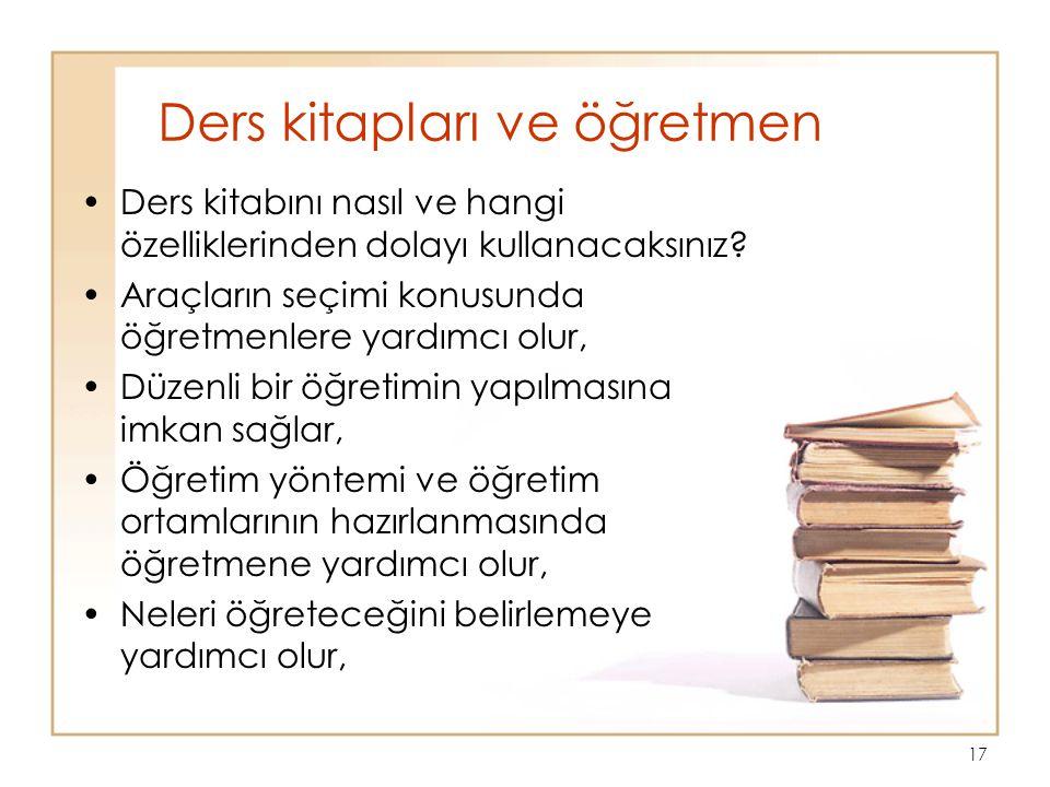 Ders kitapları ve öğretmen