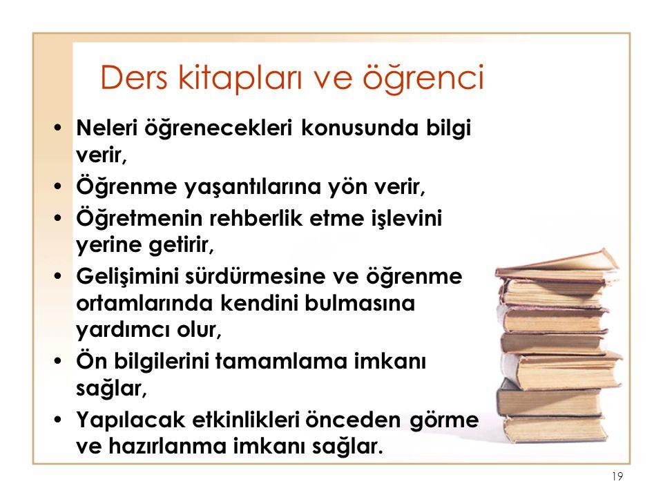 Ders kitapları ve öğrenci