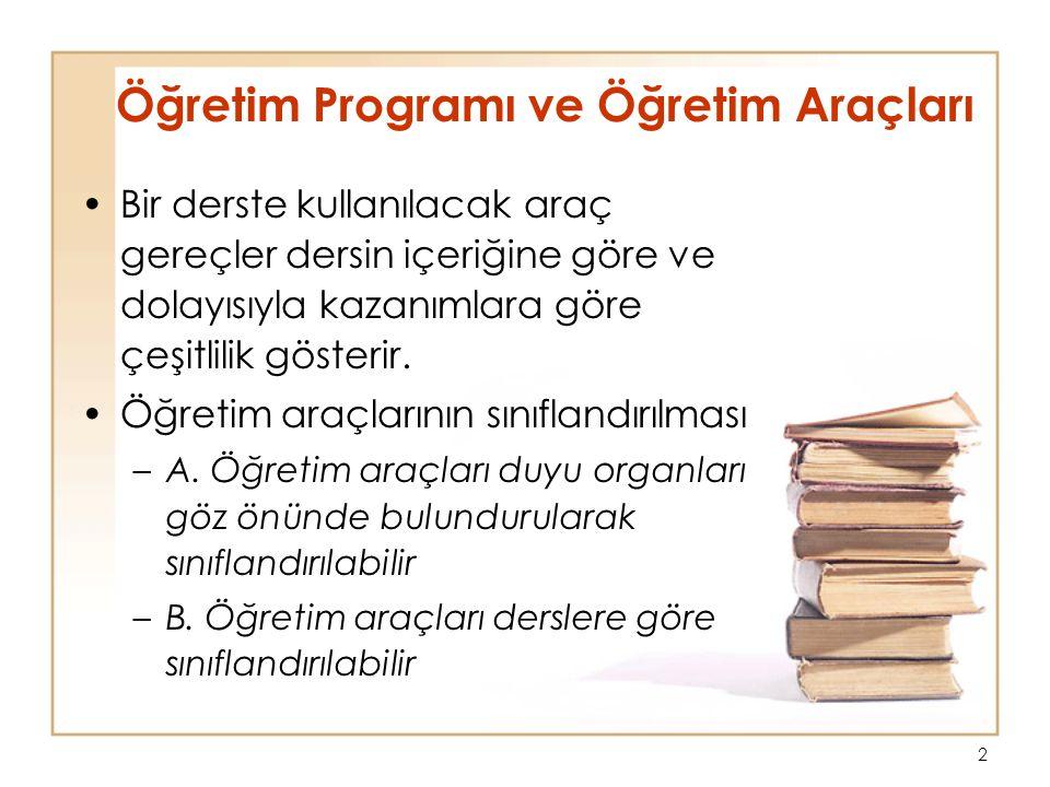 Öğretim Programı ve Öğretim Araçları