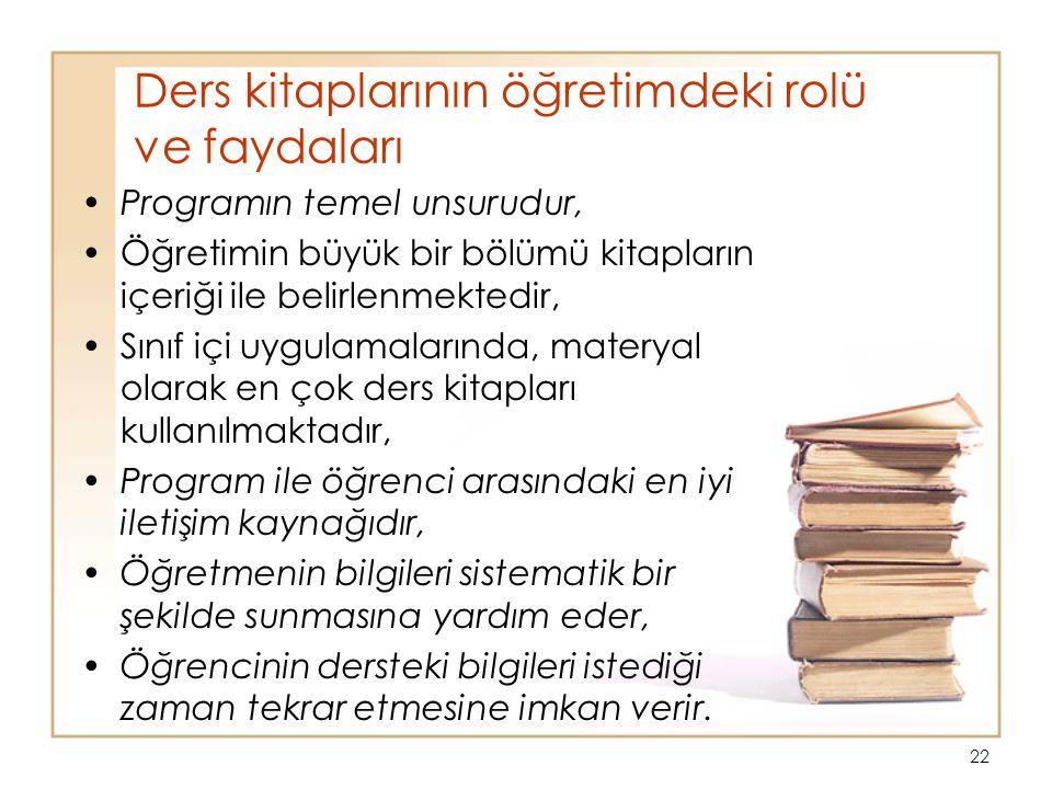 Ders kitaplarının öğretimdeki rolü ve faydaları