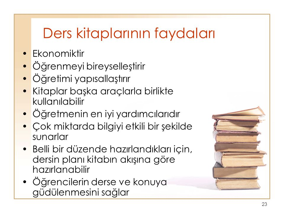 Ders kitaplarının faydaları