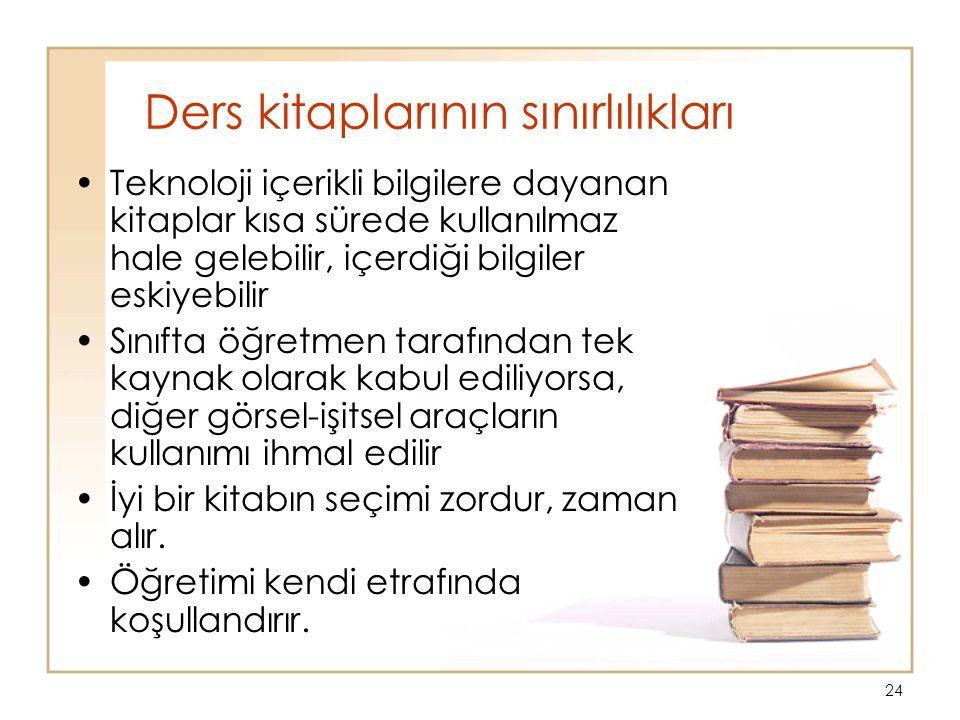 Ders kitaplarının sınırlılıkları
